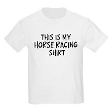 My Horse Racing Kids T-Shirt