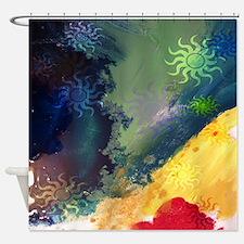 Spiral Sun Waves Shower Curtain