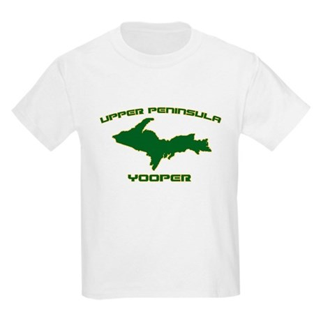 Upper Peninsula Yooper - Gree Kids T-Shirt