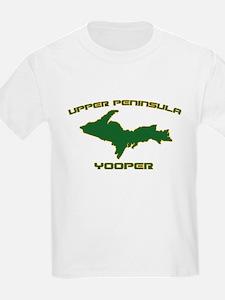Upper Peninsula Yooper - Gree Kids T-Shirt