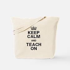 Keep Calm Teach On Tote Bag
