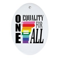 Vermont one equality blk font Ornament (Oval)