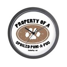 Pom-A-Pug dog Wall Clock