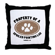 Pointing Lab dog Throw Pillow