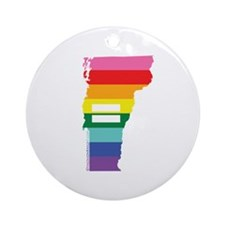 Vermont equality Ornament (Round)