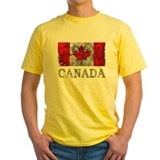 Canada Mens Classic Yellow T-Shirts