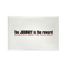 """Journey is the reward"" Rectangle Magnet"