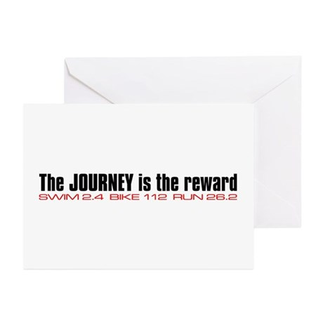 """""""Journey is the reward"""" Greeting Cards (Pk of 10)"""