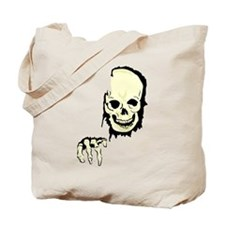 scary skull breaking out Tote Bag