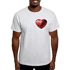 Love & kisses, dog & horse heart Ash Grey T-Shirt