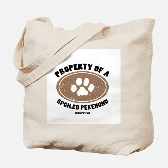 Pekehund dog Tote Bag