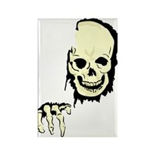 scary skull breaking out Magnets