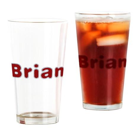 Brian Santa Fur Drinking Glass