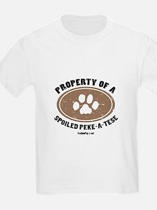 Peke-A-Tese dog Kids T-Shirt