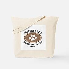 Peke-A-Tese dog Tote Bag