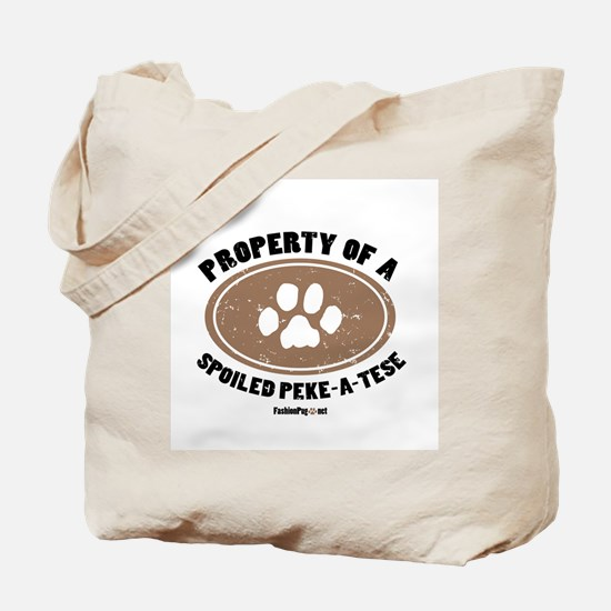 Peke-A-Tese dog Tote Bag