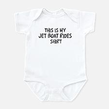 My Jet Boat Rides Infant Bodysuit