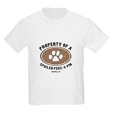 Peke-A-Pin dog Kids T-Shirt