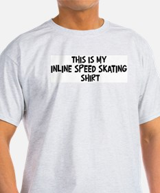 My Inline Speed Skating Ash Grey T-Shirt