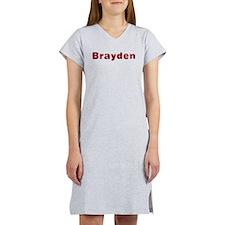 Brayden Santa Fur Women's Nightshirt