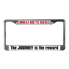 """Journey is the Reward"" License Plate Fr"