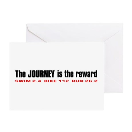 """""""Journey is the Reward"""" Greeting Cards (Package of"""