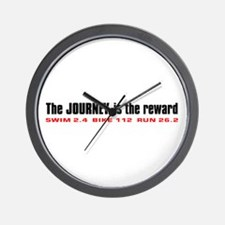 """Journey is the Reward"" Wall Clock"