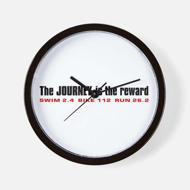 """Journey is the Reward"" Wall Clock"