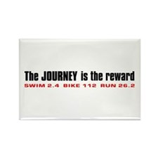 """""""Journey is the Reward"""" Rectangle Magnet"""