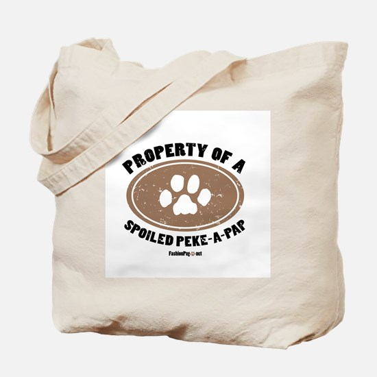 Peke-A-Pap dog Tote Bag