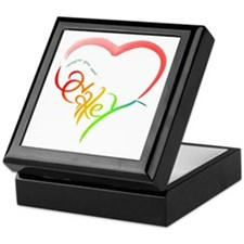 Haley rainbow heart Keepsake Box