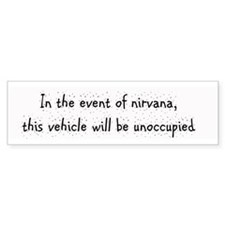 In the event of Nirvana Bumper Bumper Sticker