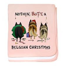 Nothin' Butt A Belgian Xmas baby blanket