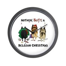 Nothin' Butt A Belgian Xmas Wall Clock