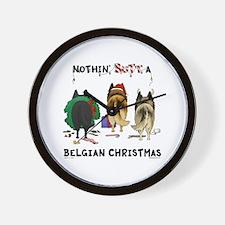 Nothin' Butt A Belgian Xmas Wall Clock