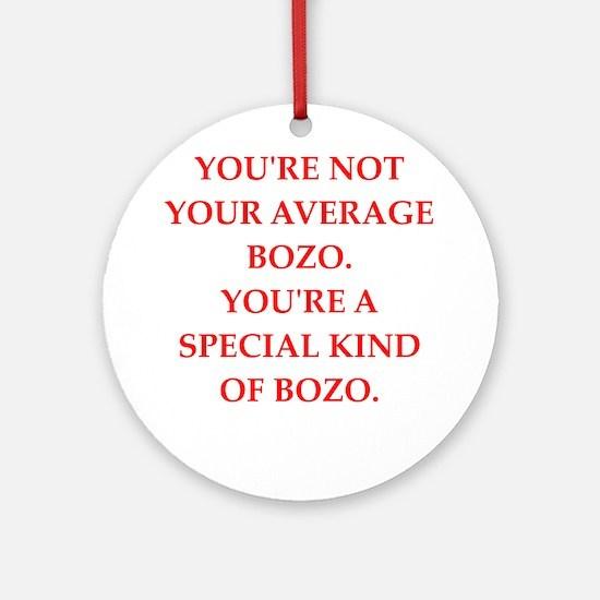 bozo Round Ornament