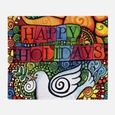 Cool Peace on earth Throw Blanket