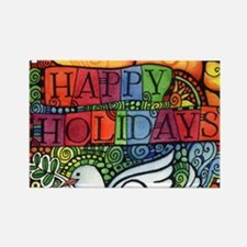 Unique Peace on earth Rectangle Magnet (10 pack)