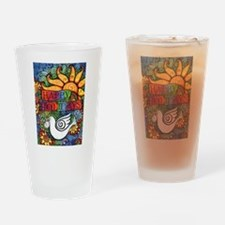 Cute Peace on earth Drinking Glass