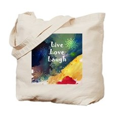 Live Love Laugh Wave Tote Bag