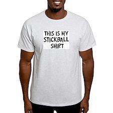 My Stickball Ash Grey T-Shirt