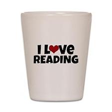 I Love Reading Shot Glass