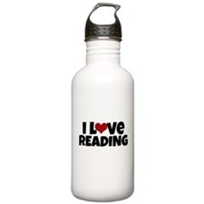 I Love Reading Water Bottle
