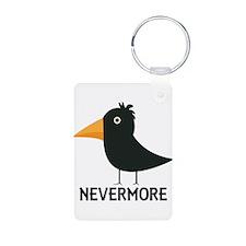 Nevermore Raven Aluminum Photo Keychain