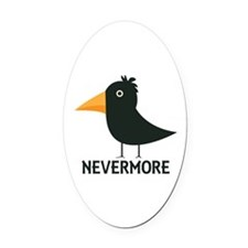Nevermore Raven Oval Car Magnet