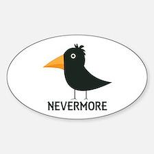 Nevermore Raven Sticker (Oval)