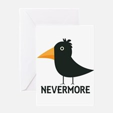 Nevermore Raven Greeting Card