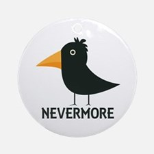 Nevermore Raven Ornament (Round)