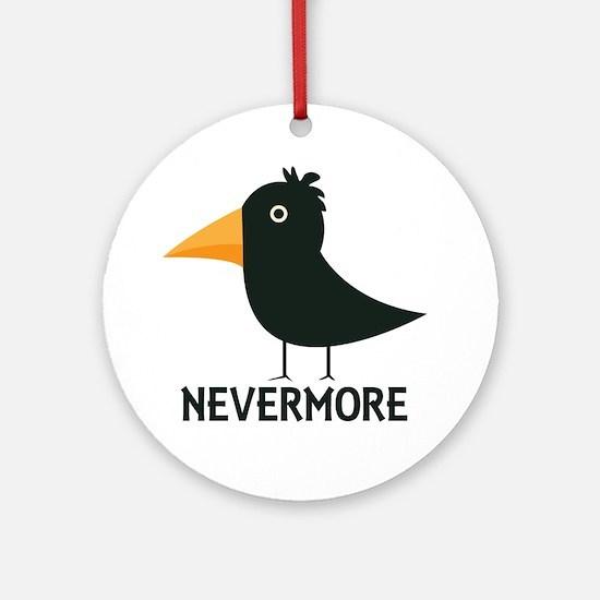 Nevermore Raven Ornament (Round)