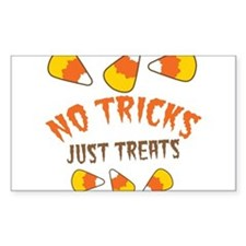 NO TRICKS just TREATS candy corn Decal